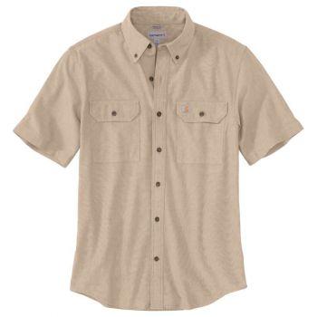 Men's Original Fit Midweight Short-Sleeve Button-Front Shirt