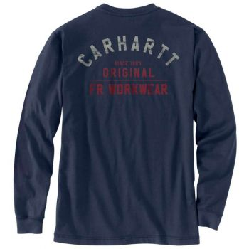 Men's FR Force Original Fit Midweight Long-Sleeve Signature Logo T-Shirt , Navy