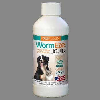 Durvet WormEze Dewormer Liquid for Cats & Dogs, 8 oz.