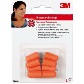 3M™ Disposable Earplugs, 4 Pairs