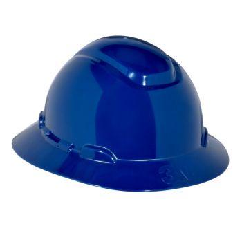 3M™ Full Brim Hard Hat with 4-Point Ratchet Suspension, Blue
