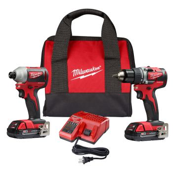 M18 Compact Brushless 2-Tool Combo Kit, Drill Driver/Impact Driver