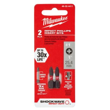 #1 Phillips SHOCKWAVE™ Impact Bits (2 Pk)