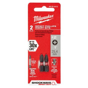 #2 Phillips SHOCKWAVE™ Impact Bits (2 Pk)