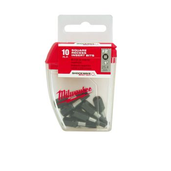 #2 Square SHOCKWAVE™ Impact Bits (10 Pk)