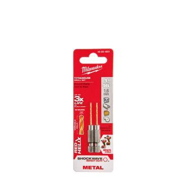 "1/16"" SHOCKWAVE™ RED HELIX™ Titanium Impact Drill Bit"