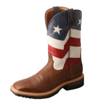 Twisted X Men's Patriotic Alloy Toe Boots, 10.5D