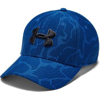 Men's UA Printed Blitzing 3.0 Stretch Fit Cap, Versa Blue / American Blue / Black, M/L