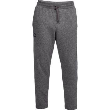 Men's UA Rival Fleece Pants, Charcoal Light Heather / Black, XL
