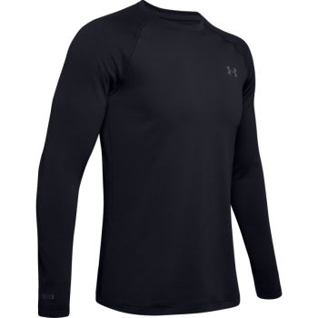 Men's UA Packaged Base 2.0 Crew, Black / Pitch Gray
