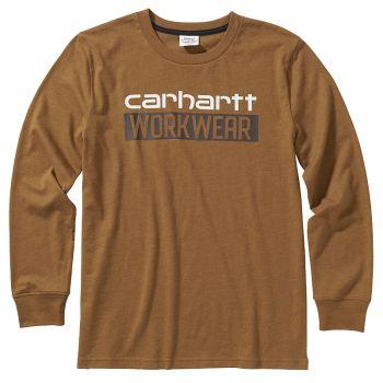 Carhartt Boy's Long Sleeve Heather Graphic T-Shirt