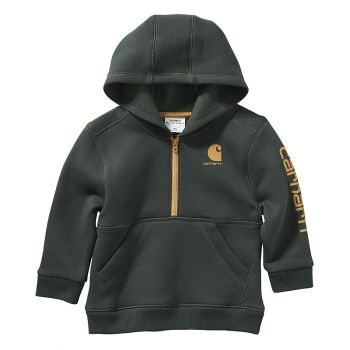 Carhartt Boy's Half Zip Hooded Sweatshirt (3M - 4T)