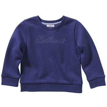 Girl's Fleece Sweatshirt, Dark Grape Heather (3M - 4T)