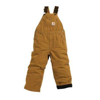 Boy's Quilt Lined Duck Overall, Carhartt Brown (8-16)