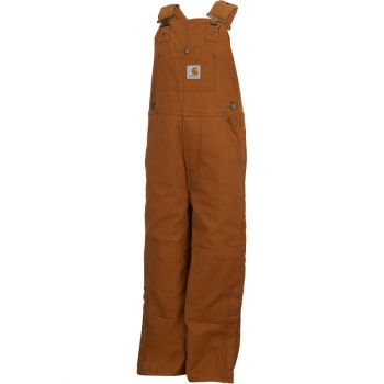 Boy's Quilt Lined Duck Overall, Carhartt Brown (4 - 7)