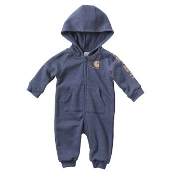 Boy's French Terry Coverall, Indigo Heather (3M - 24M)