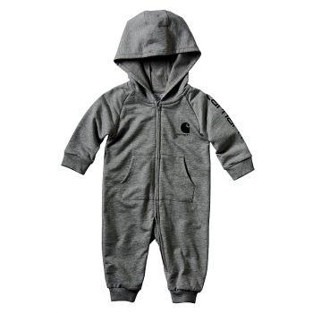 Carhartt Boy's Fleece Coverall, Charcoal Heather (3M - 24M)