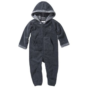 Carhartt Boy's Polar Fleece/Fur Lined Coverall, Granite Heather (3M - 24M)