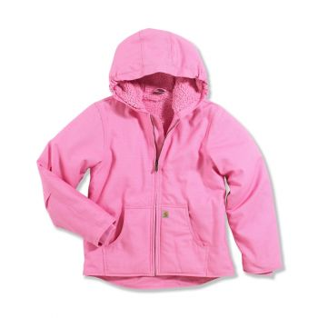 Girl's Sherpa Lined Redwood Jacket, Rosebloom