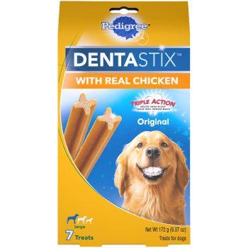 Pedigree Dentastix Original Large Dog Treats with Real Chicken 7 ct Stand-Up Bag