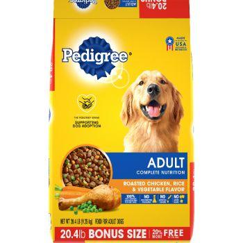 Pedigree Adult Complete Nutrition Roasted Chicken, Rice & Vegetable Flavor Dog Food, 20.4 lb.