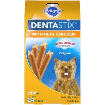 Pedigree Dentastix Original Mini Dog Treats with Real Chicken 24 ct Box