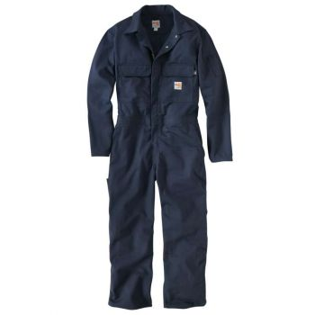 Men's FR Traditional Twill Coverall - Dark Navy