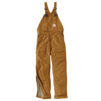 Men's FR Duck Bib Overall/Quilt-Lined