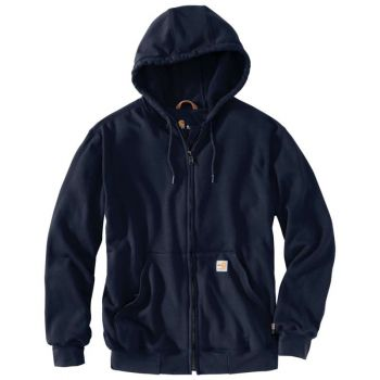 Men's FR Rain Defender Hooded Heavyweight Zip-Front Sweatshirt - Dark Navy