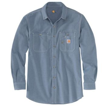 Men's FR Lightweight Long-Sleev Button Front Shirt