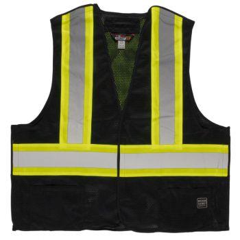 Tough Duck 5-Point Tearaway Vest, Black, 2XL/3XL