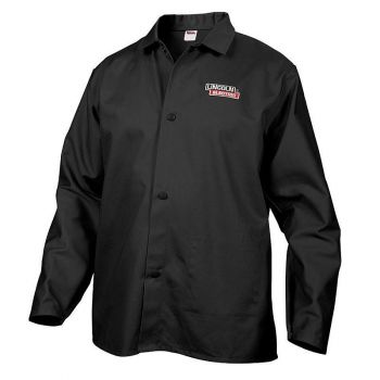 Lincoln Electric Fire Resistant Cloth Welding Jacket, Black