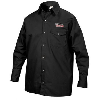 Lincoln Electric Fire Resistant Cloth Welding Shirt, Black