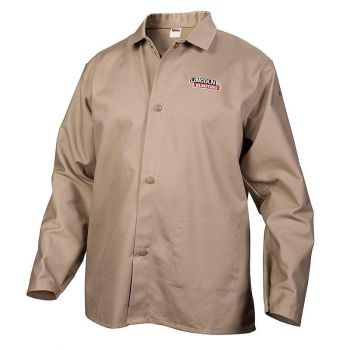 Lincoln Electric Fire Resistant Cloth Welding Jacket, Khaki