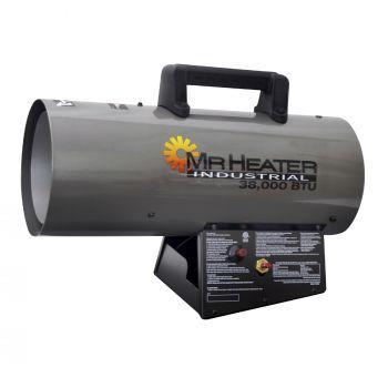 38,000 BTU Forced Air Propane Heater with QBT
