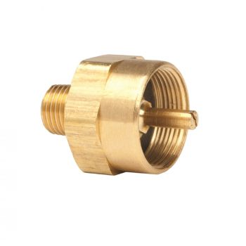 "1/4"" Male Pipe Thread x 1""-20 Female Throwaway Cylinder  Thread"