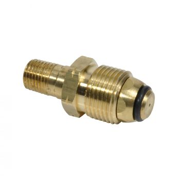 "1/4"" Male Pipe Thread x Restricted Flow Soft Nose P.O.L. with Handwheel"