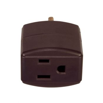 Eaton 3 Outlet Cube Tap, Brown