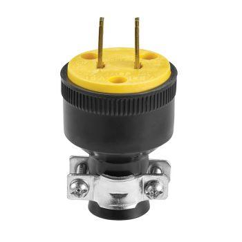 Eaton 15A 125V Rubber Plug 2-Pole, 2-Wire