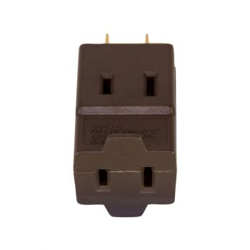 Eaton 3 Outlet Cube 2-Pole, 2-Wire , Brown