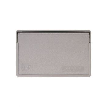 Eaton 1-Gang Weatherproof Cover with Motor Inlet, Gray