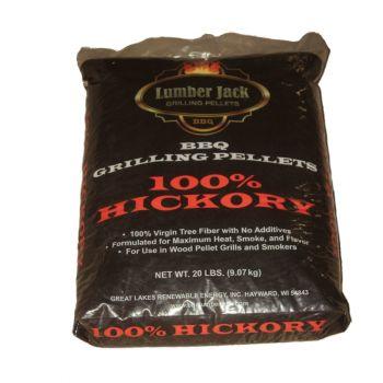 Lumber Jack 100% Hickory Pellets, 20 Lbs.