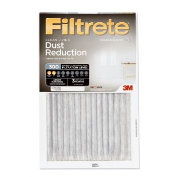 "3M™ 301DC-H-6 Filtrete Dust-Reduction Pleated Furnace Filter, 16"" x 25"" x 1"""