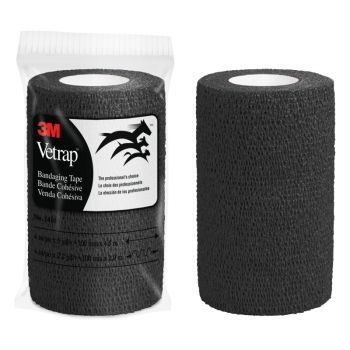 "3M™ Vetrap™ Bandaging Tape – 4"", Black"