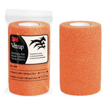 "3M™ Vetrap™ Bandaging Tape – 4"", Orange"
