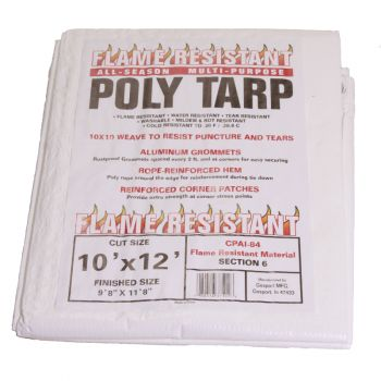 Flame Resistant Poly Tarp