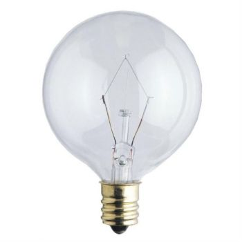25-Watt Clear G16-1/2 Incandescent Light Bulb with Candelabra Base (2-Pack)