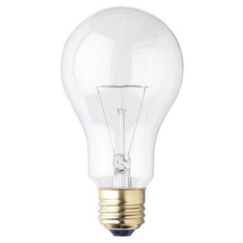 150 Watt A21 Incandescent Clear E26 (Medium) Base, 120 Volt, Box