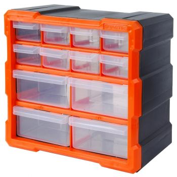 12 Drawer Parts Organizer Cabinet