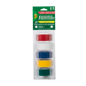 Duck® Brand Professional Color Coding Electrical Tape - Multi-Color, 5 pk